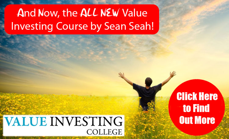 All new value investing course by Sean Seah, Click to find out more